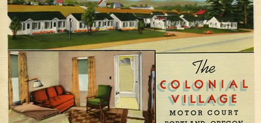 Colonial Village Motel, ca. 1940.