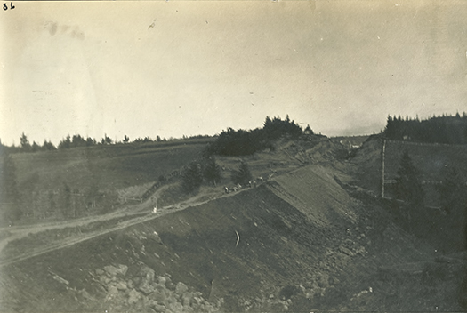 Oregon Electric Fill west of present SW 45th, looking east. ca. 1913.
