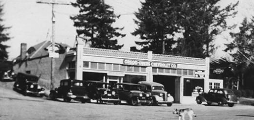 Gregg Owens Chevrolet ca. 1940.