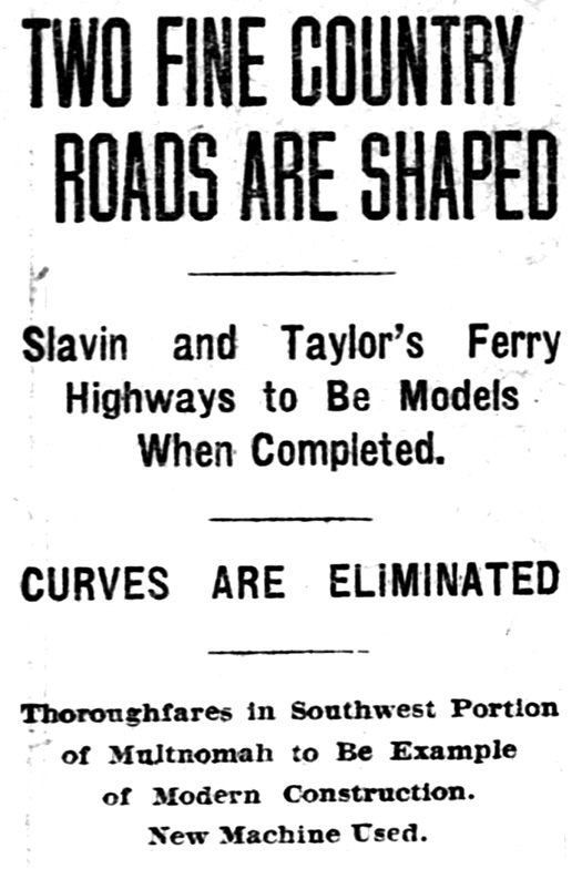 Article Title, Sunday Oregonian, August 4, 1912.
