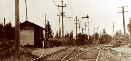 Maplewood Station on the Oregon Electric Railway, ca. 1913, from the Wendland Family Collection.