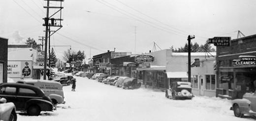 Multnomah Street Scene, ca. 1952.
