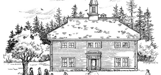 Second Maplewood School. Drawing by Kaye Synoground from original blueprints.