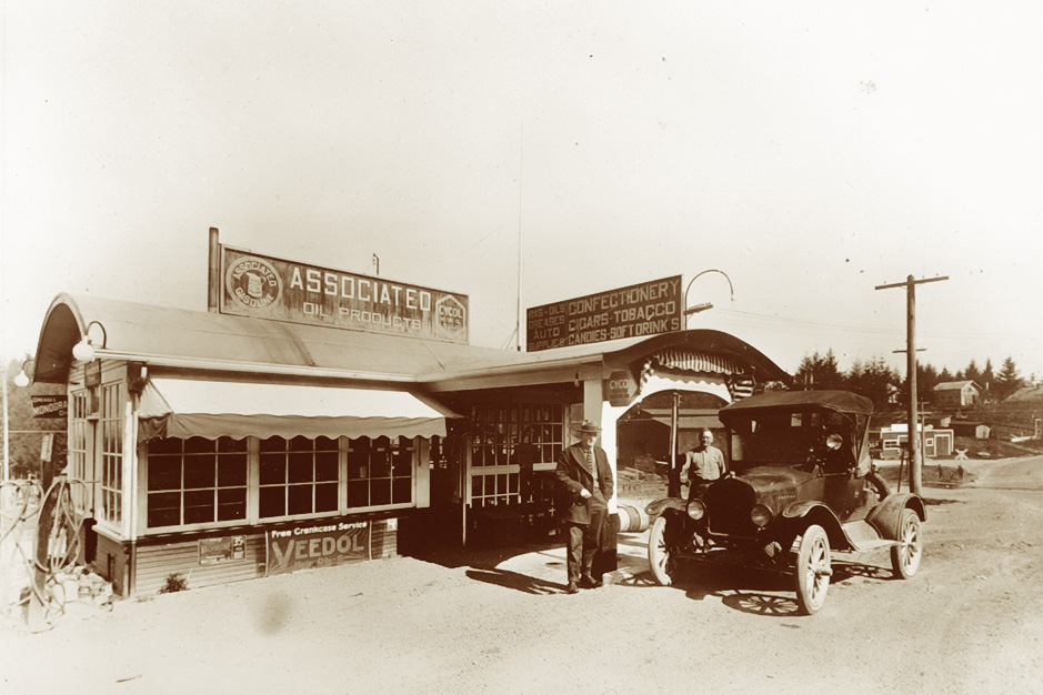 Ghormley's Service Station ca. 1920