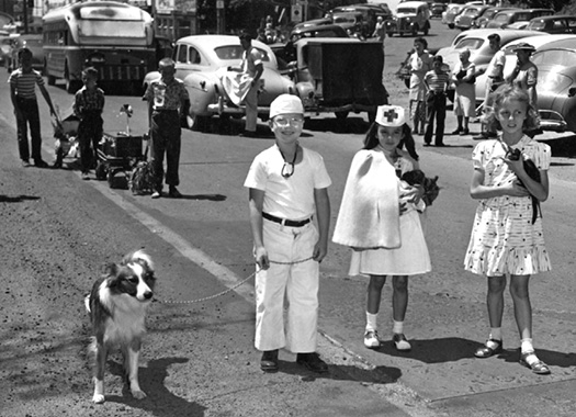 Participants in the Multnomah Days Pet Parade, ca. 1952.