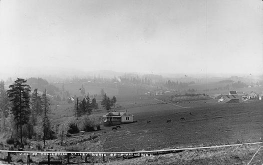 View of Tualatin Valley North of Multnomah