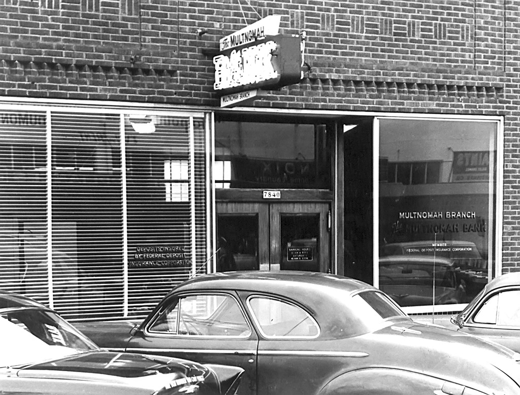 Multnomah Bank, ca. 1956.