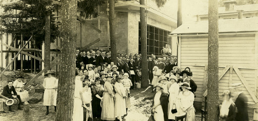 Laying the Cornerstone, Multnomah School, 1923