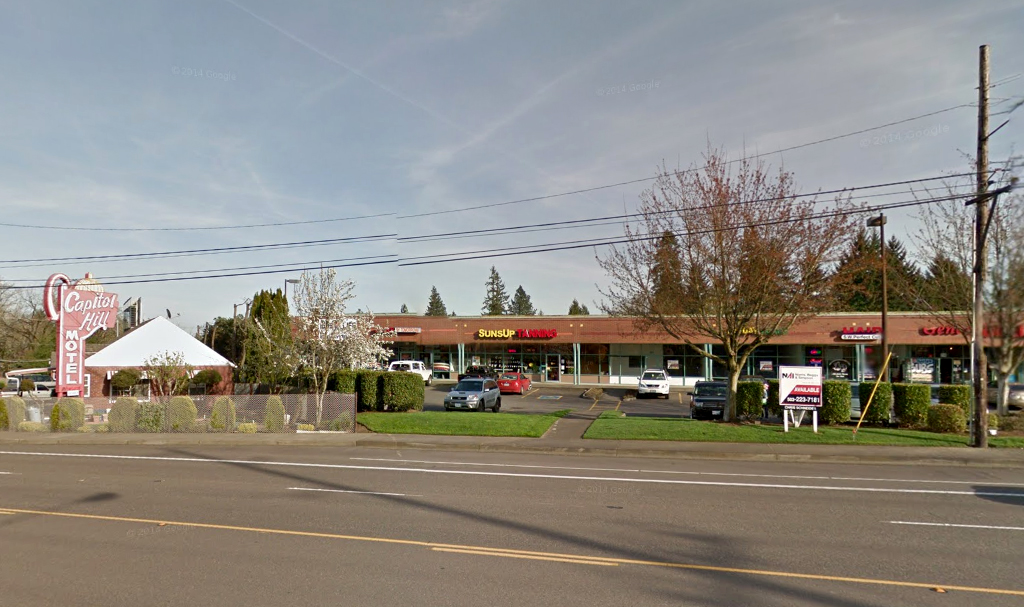 9130 SW Barbur Blvd., ca. 2014, courtesy Google Maps.