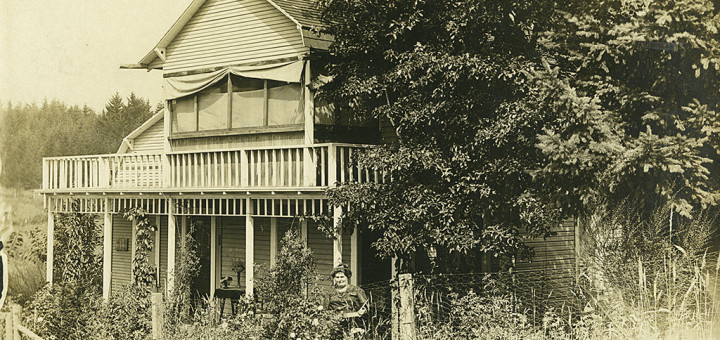 Front, Postcard of House in Multnomah, ca. 1920