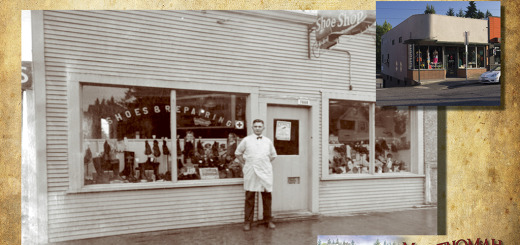 Then and Now - Maggie's Boutique, Multnomah Show Shop photo ca. 1935.