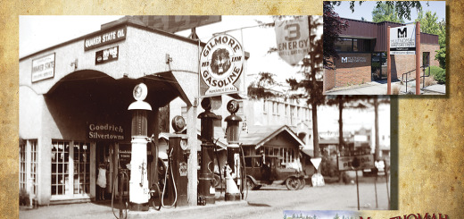 Then and Now - Multnomah Family Care Center, Verdurmen Shell photo ca. 1935.