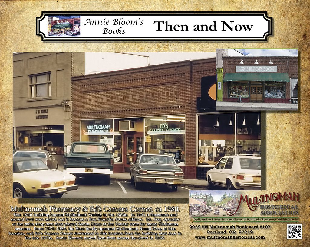 "Annie Bloom's Books ""Then and Now"" Poster."