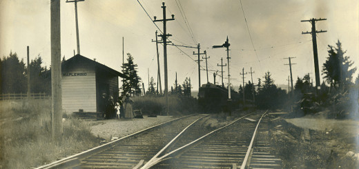 Maplewood Station on the Oregon Electric Railroad, ca. 1912. Photo by George Wendland.