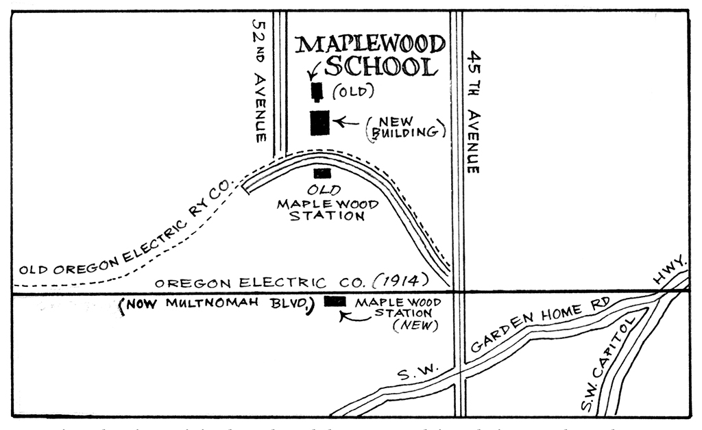 Map of Early Maplewood by Kaye Synoground.