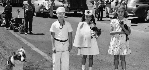 Multnomah Days Pet Parade participants, ca. 1950.
