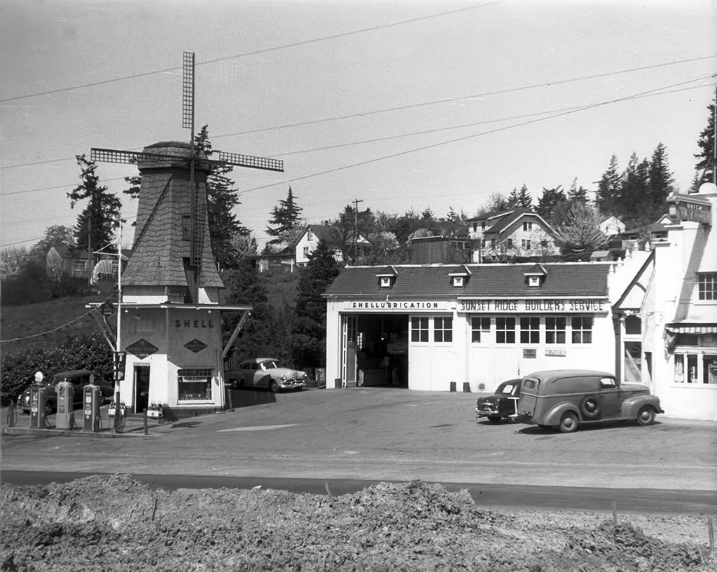 Dutch Village in Hillsdale, Oregon, ca. 1952. Photo by Art Raz