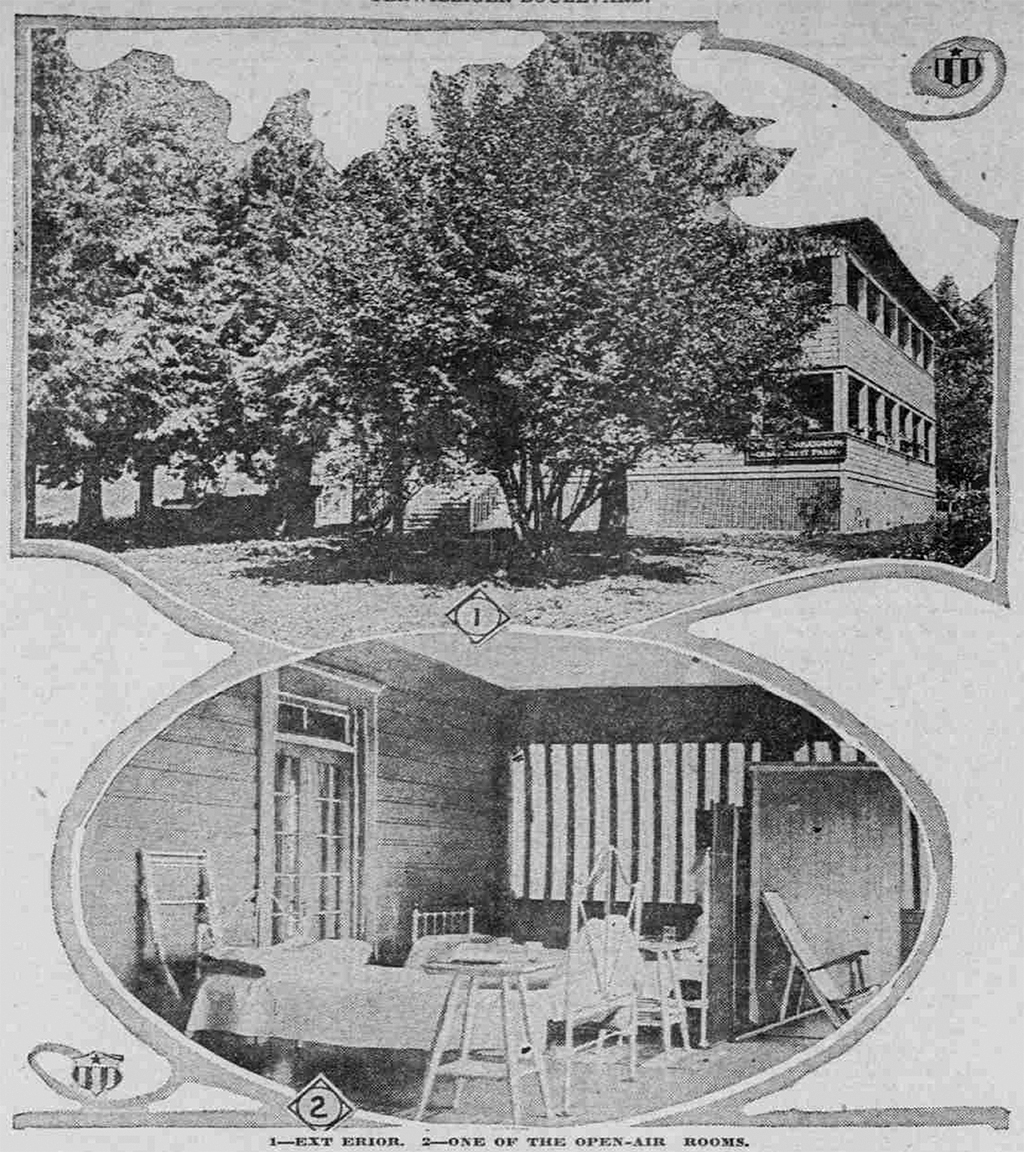 Pierce Sanitorium. Sunday Oregonian, August 12, 1917.