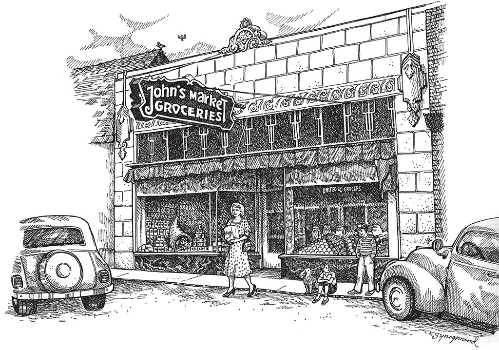 John's Market, by Kaye Synoground.