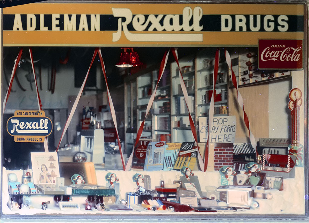 Adelman Rexall Drugs Christmas Display, ca. 1955.