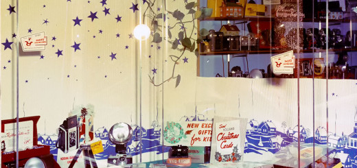 Ed's Camera Corner Christmas Window, ca . 1955