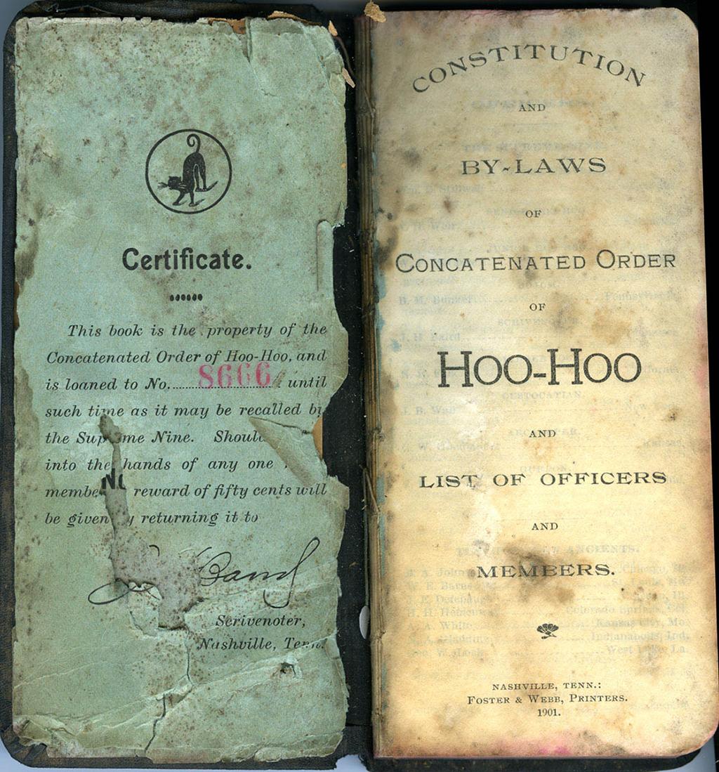 HooHoo Hoo Handbook, 1901