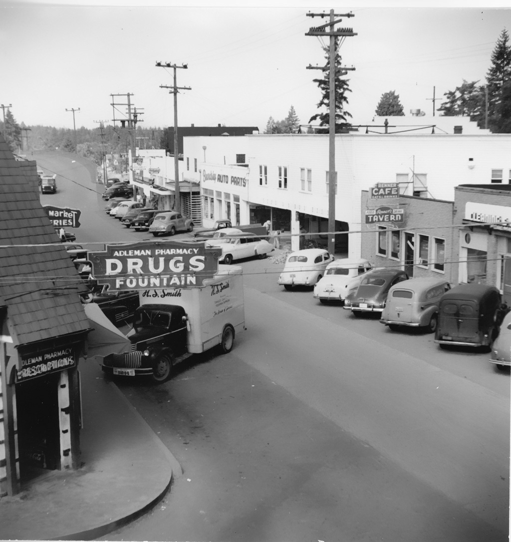 Multnomah, Oregon, ca. 1953. Ed Colvin Photo.