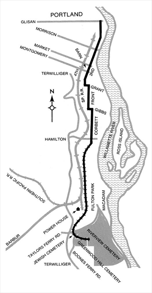 Metropolitan Railway Route Map.