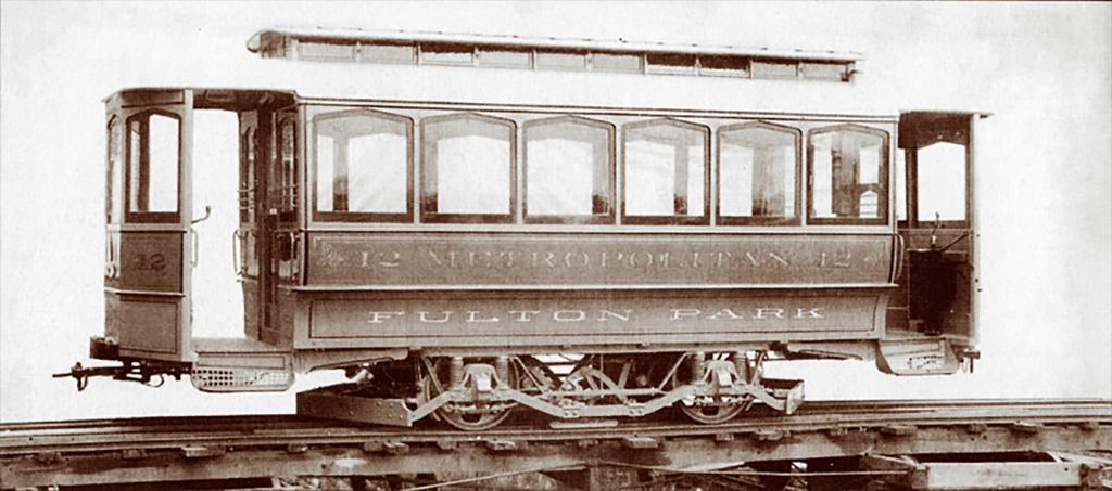 Metropolitan Railway Car number 12. ca. 1891.