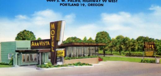 Ara Vista Motel Postcard, ca. 1950.