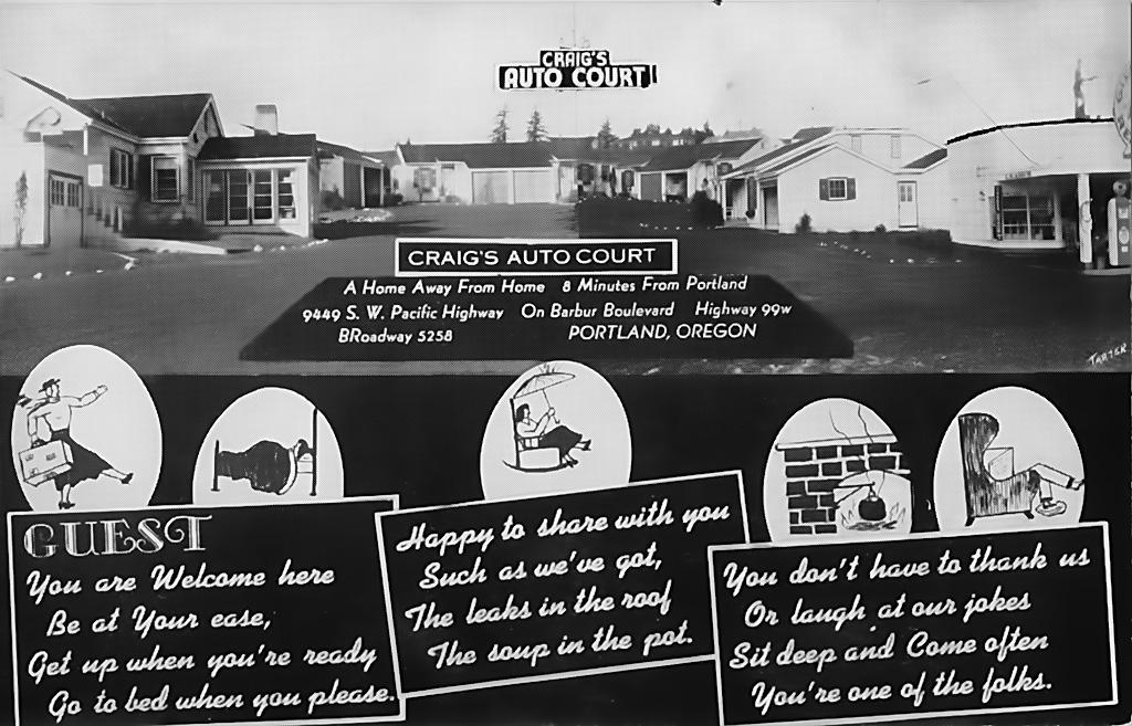 Craig's Auto Court, 8449 SW Barbur Blvd., ca. 1940.